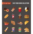 Set flat icons restaurant business Table covered vector image