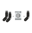 Socks and a washing machine Riddle where you lose vector image