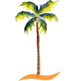 Watercolor Palm tree vector image
