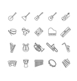 musical instruments icons set vector image