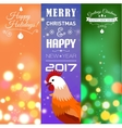 Vertical Banners Set with 2017 Chinese New Year vector image
