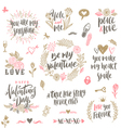 Valentines day hand drawn set vector image