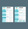 company application cv resume template vector image