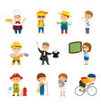 collection of different professions vector image