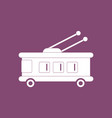 icon trolleybus silhouette vector image vector image