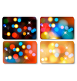 Set of colorful abstract gift cards vector image