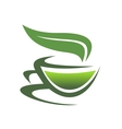 Steaming cup of tea vector image