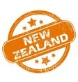New Zealand grunge icon vector image