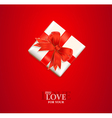 valentines gift background vector image vector image