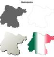 Guanajuato blank outline map set vector image
