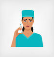 nurse with syringe vector image