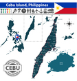 Map of cebu island vector