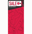 sale flyer vector image vector image