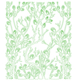 background with green plants - spring vector image