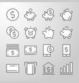banking money finance thin line icon vector image