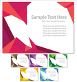 document template set card vector image