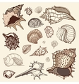 Sea collection Hand drawn vector image