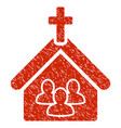 church grunge icon vector image