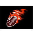 Flaming rugby ball vector image vector image