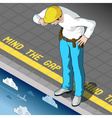 Isometric Mind the Gap vector image vector image