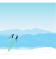 Winter banner with Canigou silhouette vector image