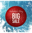 Round Banner with Valentines Day Big Sale Text vector image