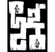 Maze People vector image