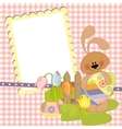 Cute template for Easter postcard vector image