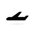 airplane icon in black vector image