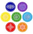 Bohemian Indian chakra Mandalas Vintage Henna vector image