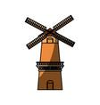 farm windmill symbol vector image