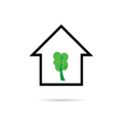 house with tree green vector image