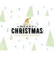 Merry Christmas typography background vector image