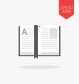 Open book icon Flat design gray color symbol vector image