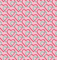 Seamless pattern of joint heart vector image