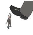 Step on worker vector image