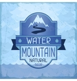 Water mountain background in retro style vector image