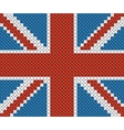 Great Britain flag background made with embroidery vector image vector image
