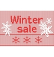 Winter special offer sale discount template banner vector image