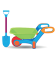 Childs outdoor toys vector image