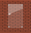 glass frame on brick wall vector image vector image