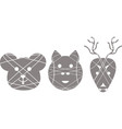 set of separated animal logotypes vector image