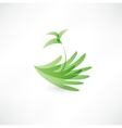 Hands and plant icon vector image vector image