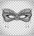 elegant carnival mask on transparent background vector image