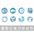 Collection of Vintage Marine Design Labels vector image