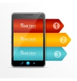 smartphone with infographic option banner vector image