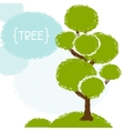 Natural background with tree in grunge style vector image vector image