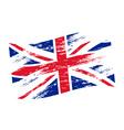 color united kingdom national flag grunge style vector image