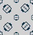 wristwatch icon sign Seamless pattern with vector image