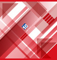 abstract red and white technology geometric shape vector image